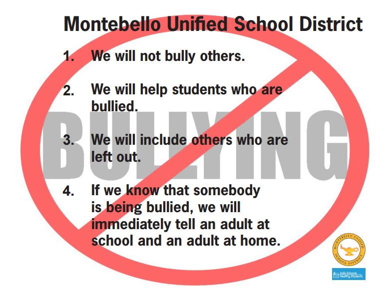 montebello unified bullying poster link