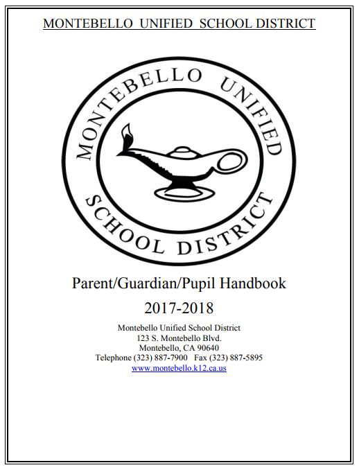 Parent Guardian Pupil Handbook cover page