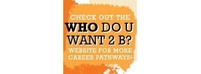 Check out the who do u want 2 b? logo link