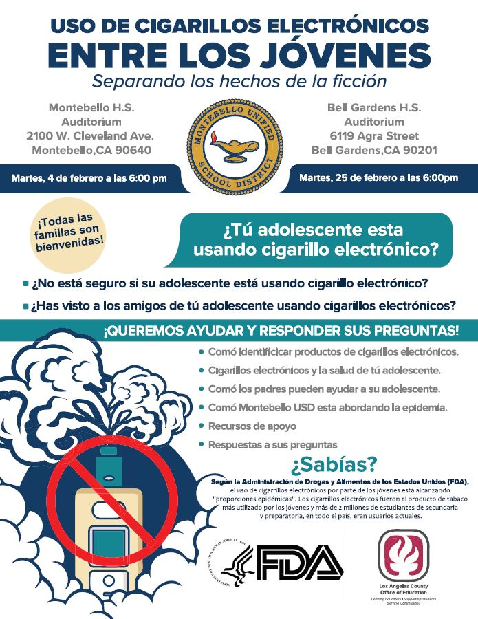 Youth vaping- Spanish flyer